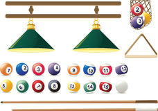 Vector icon of billiard. Billiard balls on the table Stock Photo