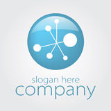 Icon atom electricity. Vector icon blue electrical circuit Royalty Free Stock Photography