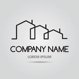 Vector icon with buildings Royalty Free Stock Photo