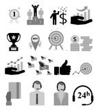 Vector icon. Business man metaphors - icon set collection. Connection, shopping and communication Royalty Free Stock Photo