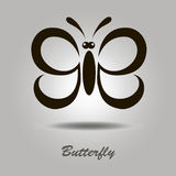 Vector icon with butterfly Stock Images
