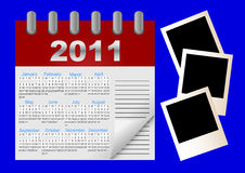 Vector icon calendar for 2011 year. Royalty Free Stock Image