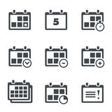 Vector icon calendar with notes Royalty Free Stock Photo