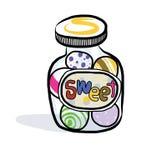 Vector icon of a candy jar. Stock Photos