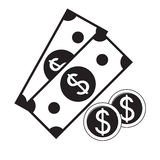 Vector icon of cash money Royalty Free Stock Images