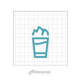 Vector icon of cocktail Hirosima with modular grid. Royalty Free Stock Image
