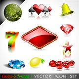 Vector icon collection on a casino theme. Stock Photo