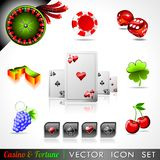 Vector icon collection on a casino and theme. Royalty Free Stock Image