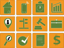 Vector icon collection Stock Images