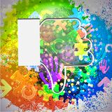 Vector icon. Colorful abstract background. Eps10. See my other works in portfolio Royalty Free Stock Photo
