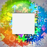 Vector icon. Colorful abstract background. Eps10 Stock Image