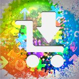 Vector icon. Colorful abstract background. Eps10 Royalty Free Stock Photos