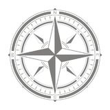 Vector icon with compass rose. For your design Royalty Free Stock Photo