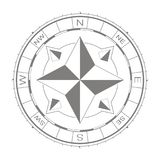 Vector icon with compass rose Stock Photography
