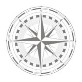 Vector icon with compass rose Stock Images