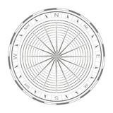 Vector icon with compass rose Stock Photo