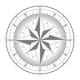 Vector icon with compass rose Royalty Free Stock Images