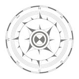Vector icon with compass rose Stock Image
