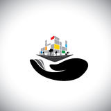 Vector icon - concept of buying house Stock Image