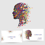 Vector icon design element, business card template Stock Image