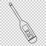 Icon digital thermometer, at transparent effect background. Vector icon digital thermometer, at transparent effect background Stock Photos