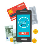 Vector icon easy online mobile payment Stock Photography