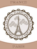 Vector Icon Eiffel Tower Royalty Free Stock Photo