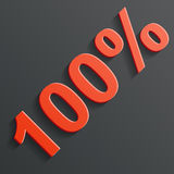 Vector icon of the 100%. This is file of EPS10 format stock illustration