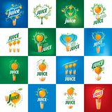 Logo of fresh juice. Vector icon fresh juice from natural products Stock Image