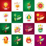 Logo of fresh juice. Vector icon fresh juice from natural products Stock Images
