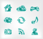Vector icon geometric polygon Stock Photo