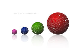 Vector icon globe tech innovation on white background Royalty Free Stock Photos
