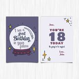 Happy birthday 18th years greeting card Royalty Free Stock Photos