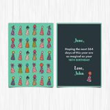Happy birthday 18th years greeting card Stock Image