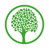 Vector icon of healthy tree royalty free illustration