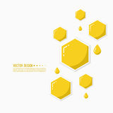 Vector icon honeycomb. Royalty Free Stock Photo