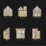 Vector icon of house building in the flat style Royalty Free Stock Photography