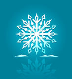 Vector icon of ice snowflake Stock Photography