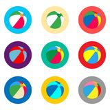 Vector icon illustration logo for set symbols beach ball for playing on the sand. Vector icon illustration logo for set symbols beach inflatable ball for playing vector illustration