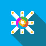 Vector icon or illustration showing advertise in flat design style Royalty Free Stock Photo