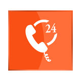 Vector icon indicates the availability of telephone Stock Images