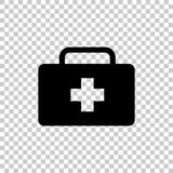 Vector icon indicates the presence of first-aid. Doctor. Royalty Free Stock Photos
