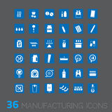 Vector icon for industrial business Royalty Free Stock Image