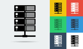 Vector icon of internet server Stock Photography
