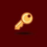 Vector icon key isolated. Illustration flat key Stock Image