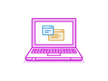 Vector icon of laptop Stock Photography