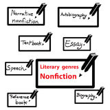 Vector icon of literary genres nonfiction, book Stock Photos