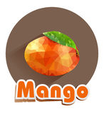 Vector icon of mango triangles Stock Photo