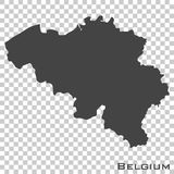 Vector icon map of belgium on transparent background stock illustration