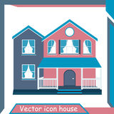 Vector Icon Minimalistic Modern Home Stock Photography